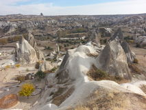 Chimeneas en Cappadocia Turquía Fotos de archivo