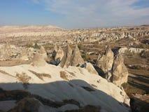 Chimeneas en Cappadocia Turquía Foto de archivo