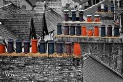 Chimeneas en País de Gales Fotografía de archivo libre de regalías