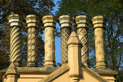 Chimeneas georgianas viejas Foto de archivo libre de regalías