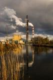 Chimeneas industriales Foto de archivo