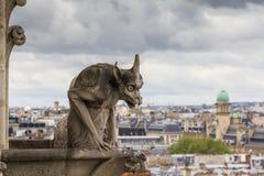 chimera κυρία de notre Παρίσι Στοκ Εικόνες