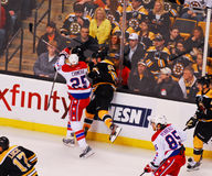 Chimera checks Johnny Boychuk (NHL Hockey) Royalty Free Stock Image