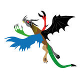 Сhimer. Chimera flying in the sky Royalty Free Stock Images