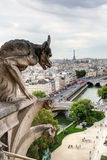 Chimera (gargoyle) of the Cathedral of Notre Dame de Paris  Royalty Free Stock Photography