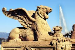 Chimera mythical creature Brunswick Monument Geneva Switzerland stock images