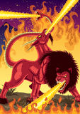 Chimera. The mythical monster Chimera, devastating everything in her way Stock Images