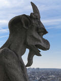 Chimera on Notre Dame Cathedral's balcony Royalty Free Stock Photography