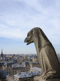 Chimera on Notre Dame Cathedral's balcony Stock Image