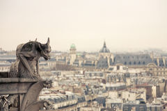 Chimera. Of Notre Dame de Paris Royalty Free Stock Photography