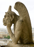 Chimera of Notre Dame de Paris. Royalty Free Stock Photography