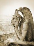 Chimera on Notre Dame de Paris Stock Photo