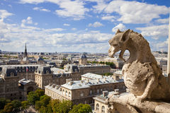 Chimera from Notre Dame of Paris Stock Photography