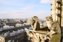 Chimeras of cathedral of the Parisian mother of Go Stock Photo