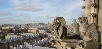 Chimeras at Notre Dame top Stock Photo