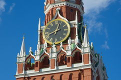 Chimes on the Spasskaya tower of the Moscow Kremlin, Moscow, Russia Stock Images