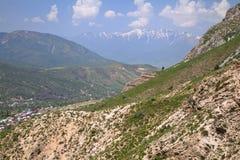 Chimgan berg, Uzbekistan Arkivbild