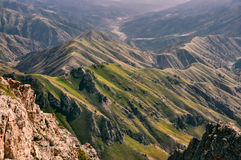 Chimgan in Uzbekistan. Scenic landscape of Tian Shan mountain range near Chimgan  in Uzbekistan Royalty Free Stock Photos