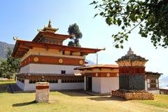 Chimi Lakhang或编钟Lhakhang寺庙, Punakha区,不丹 免版税库存图片