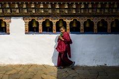Chimi Lhakang, Buddyjski monaster w okręgu Punakha Obrazy Stock