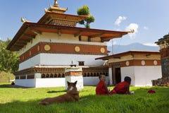 Chimi Lhakhang monaster fotografia stock