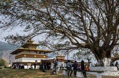 Chimi Lhakhang, Phunakha, Μπουτάν στοκ εικόνες