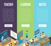 Chimica, arti e lezioni di per la matematica alla scuola illustrazione di stock