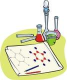 Chimica - esperimento chimico Illustrazione Vettoriale