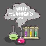 Chimica felice di giorno degli insegnanti illustrazione vettoriale