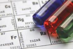 Chimica. Serie della provetta immagini stock
