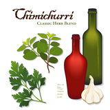 Chimichurri, klassischer Herb Blend Stockfoto