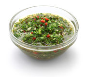 Chimichurri sauce, traditional Argentine condiment Stock Image