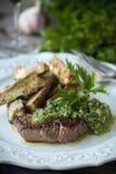 Chimichurri Steak Royalty Free Stock Image