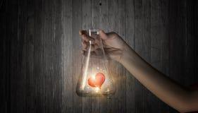 Chimie d'amour et de passion Media mélangé Image stock