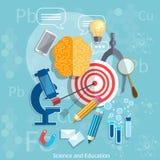 Chimie de concept d'obtention du diplôme de cible d'éducation et de la Science Photo stock
