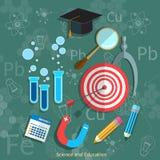 Chimie de physique de mathématiques de tableau noir d'éducation et de la Science Photo libre de droits