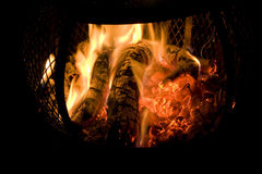 Chiminea Fire Stock Images