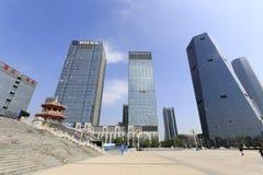 Chiminguangchangfyrkanten av den nya staden för jimei Arkivfoton