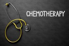 Chimiothérapie - texte sur le tableau illustration 3D Photos stock