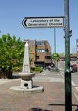 Chimiste Signpost de gouvernement de Teddington photo libre de droits