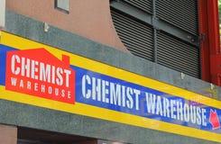 Chimiste Warehouse Australia images libres de droits