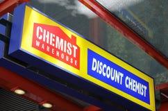 Chimiste Warehouse Australia photographie stock libre de droits