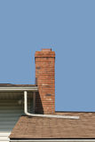 Chimney. And roofline of a house royalty free stock photo
