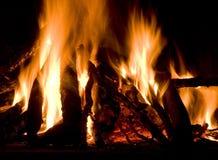 Chimney. Burning wood in a chimney stock photo