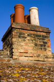 Chimney. S on typical english house stock images