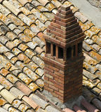 Chimney. On a italian roof Royalty Free Stock Image