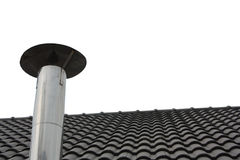 Chimney. And part of the roof Royalty Free Stock Photography