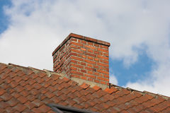 Chimney. An old chimney on a private house royalty free stock image