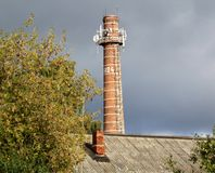 Chimney against the sky Royalty Free Stock Image