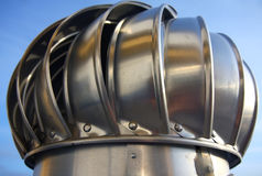 Chimney of air ventilation. Metal chimney of air ventilation Stock Image